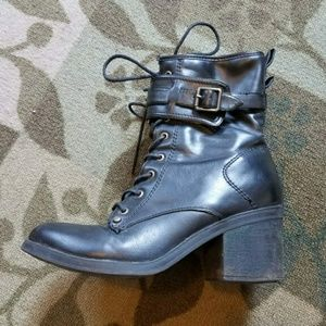 Black G by Guess combat boots